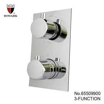 Square thermostatic shower mixer valve