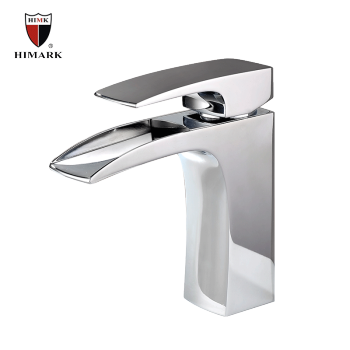 Modern chrome single handle brass lavatory faucet