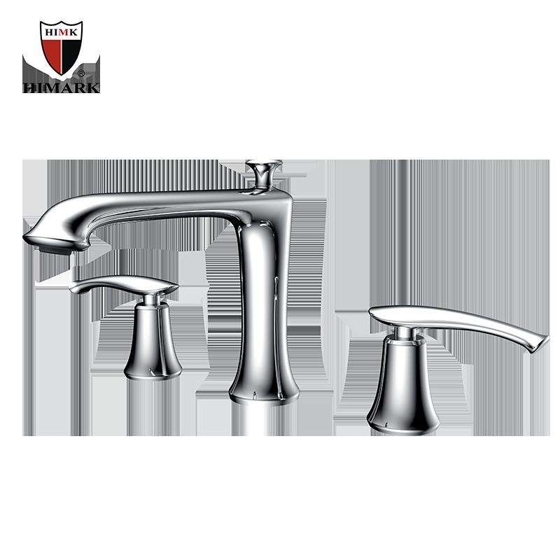 3 hole chrome and brass bathroom bathtub faucets