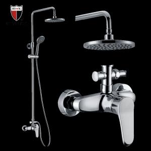 Accesorios de ducha de lluvia contemporáneos de latón para baño