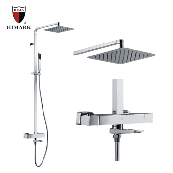 Exposed thermostatic shower mixer with 10
