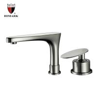 Contemporarybrushed nickelbathroom faucets  fixtures