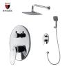 Polished chrome bathroom faucet and shower sets