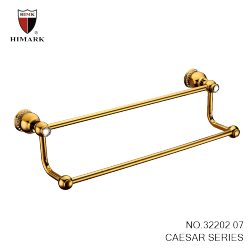 unique bathroom accessories gold plated double towel bars - Bathroom Accessories Lebanon