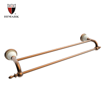 Classical style rose gold dual towel bar for bath