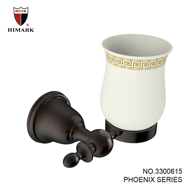 Unique wall mount toothbrush holder in oil rubbed bronze