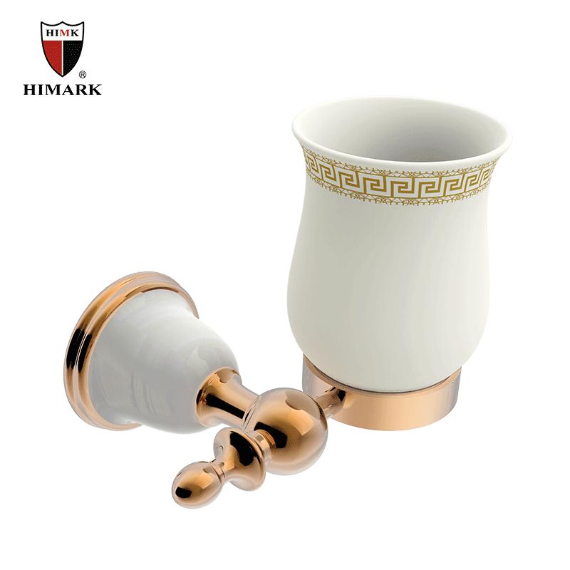 Luxury bathroom accessories copper single toothbrush holder