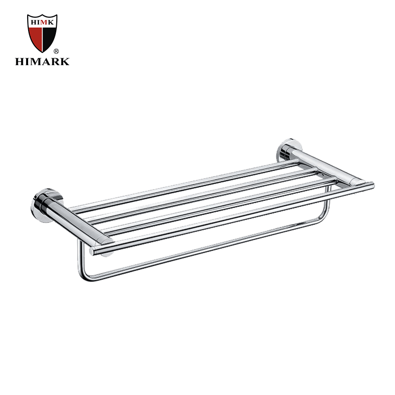 Wall mounted stainless steel double towel holder