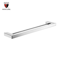 Stainless steel dual towel bar for bathroom