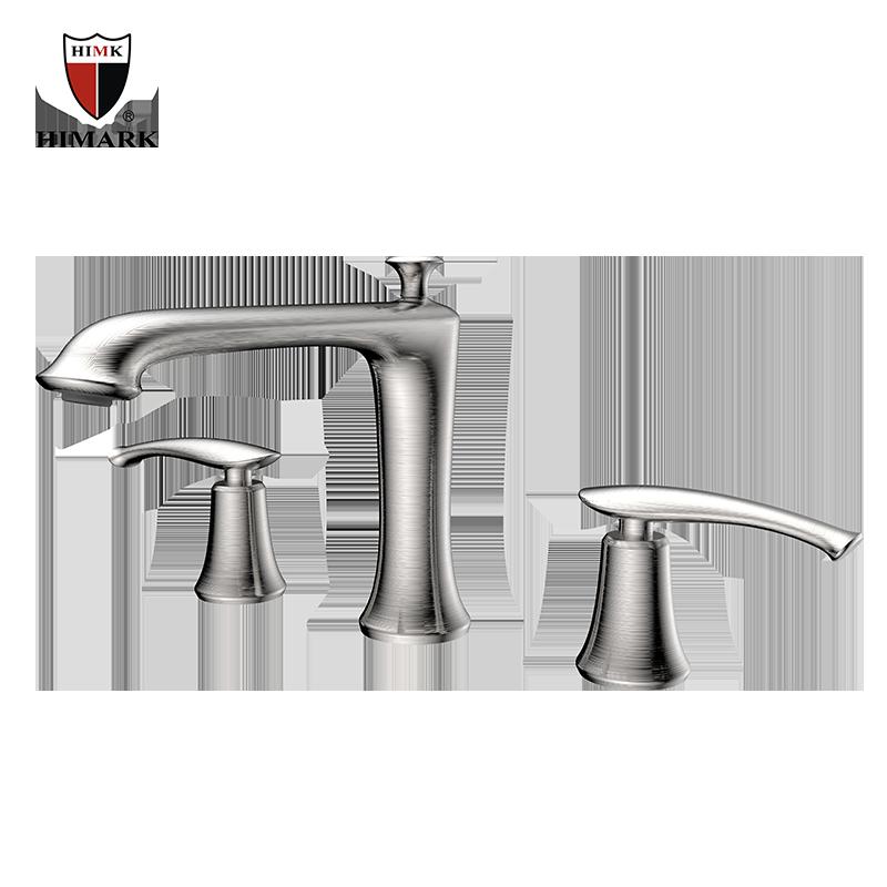 Brand new double handle brass bathroom bathtub faucet