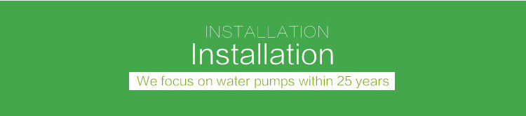 instalation of pump