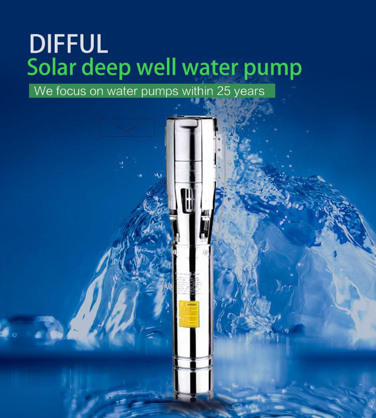 Pompe de puits de 3 pouces de profondeur