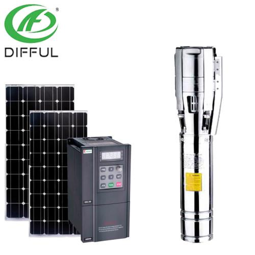 مضخة المياه الشمسية للزراعة الشمسية مضخة مياه غاطسة 24 فولت في جنوب أفريقيا