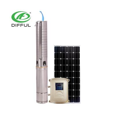 不锈钢叶轮4寸太阳能潜水泵 光伏直流太阳能泵 厂家直销农用太阳能水泵