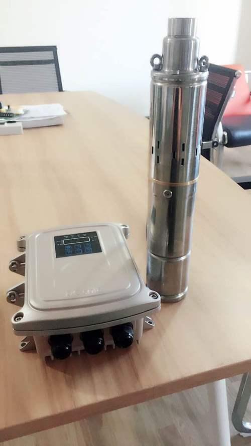 3寸螺杆式太阳能潜水泵 24V不锈钢螺杆泵 光伏螺杆泵 直流家用螺杆太阳能泵