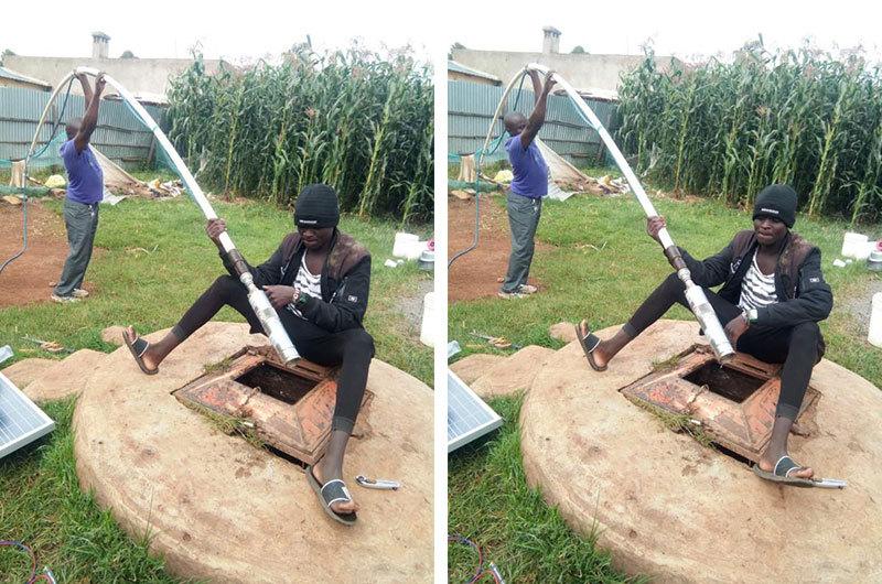 Feedback para DIFFUL Bomba Solar de clientes quenianos 1