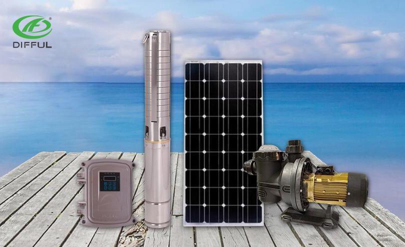 Bomba de água solar DIFFUL