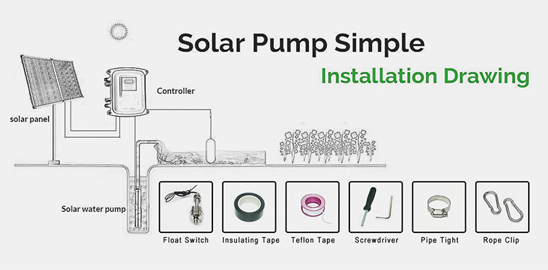 solar pump simple installation drawing