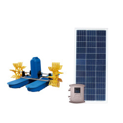 DC solar paddle wheel aerator for fish ponds large floating solar pond fountain
