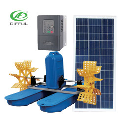 AC/DC solar paddle wheel aerator solar powered air pump for pond solar pump aerator oxygenator