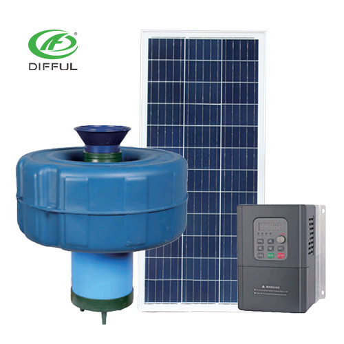 Ac Dc Brushless Solar Pond Aerator For Irrigation Fish Pond Aeration Pump Floating Pump Difful