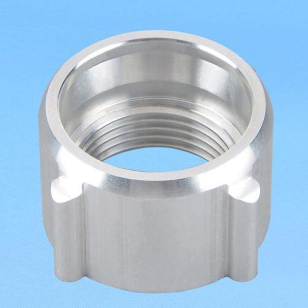 OEM custom Non-standard precision CNC aluminum knurled insert nut for plastic