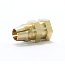 China supplier custom brass hex nut,brass threaded insert for bathroom product