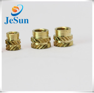 Double-Twilll Knurled Brass Threaded Insert Nut