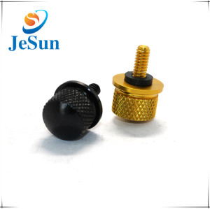 Anodized Brass and black Big Head Knurled Thumb Screw