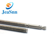 High precision machined knurled stainless steel shafts