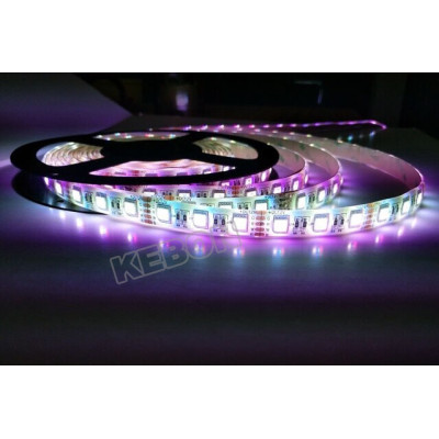 Popular 4 en 1 LED DC12V / 24V RGBW / WW SMD5050 LED Flexible tira de luz