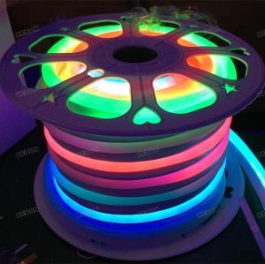 حلم الألوان في الهواء الطلق ip68 للماء smd5050 48 المصابيح 24v مرنة ضوء النيون
