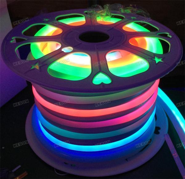 Полные цвета мечты Наружный IP68 Водонепроницаемый SMD5050 48LEDs 24V Гибкий неоновый свет с IC