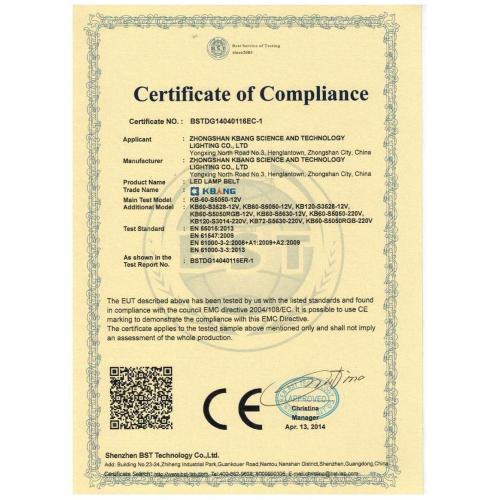 CE Сертификаты светодиодов 12V и 220V SMD5050,3528,5630,3014