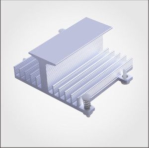 2016 hot selling China heatsink,aluminum profile heatsink,silver anodizing extruded heatsink