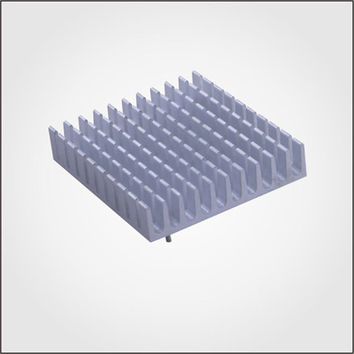 Aluminum profile heatsink in anodizing with push pin assembly