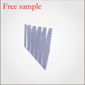 LED anodizing round aluminum cold forging pin fins heatsink