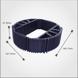 OEM Heatsink design extruded profile black anodizing aluminum china heatsink