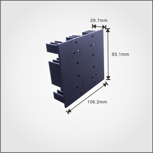 AL6063 material T5 temper Extrusion profile aluminum china heatsink with black anodized