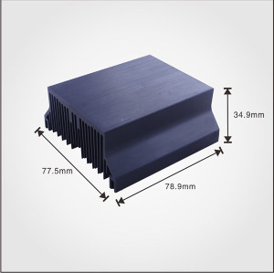 China heatsink manufacturer supply Extruded Aluminum profile heat sink
