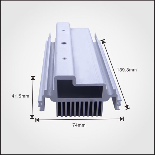 Custom Aluminum Profile material Extruded Aluminum Heatsinks with high quality