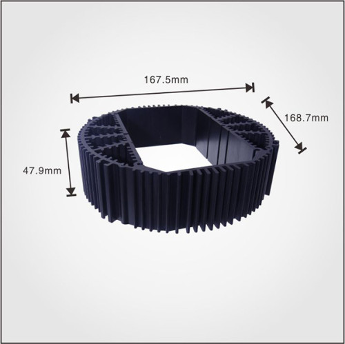 Custom Aluminum Profile material Extruded Aluminum round Heatsinks with high quality