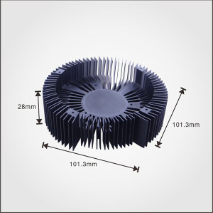 Aluminum extruded china heat sink for cpu with fan