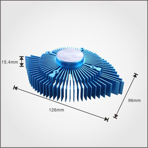 Aluminum extruded profile china heat sink for cpu with fan