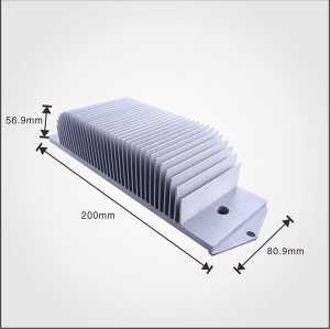Custom Aluminum material Extruded T-Profile Aluminum Heatsinks with high quality