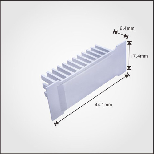 OEM aluminum extruded china mini CNC heat sink for connector