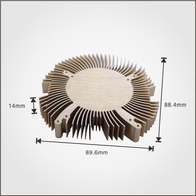 Aluminum extruded profile china copper heat sink for cpu