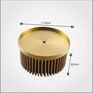 LED Pin Fin Heatsink with Diameter 110mm cold forging heatsink made in China