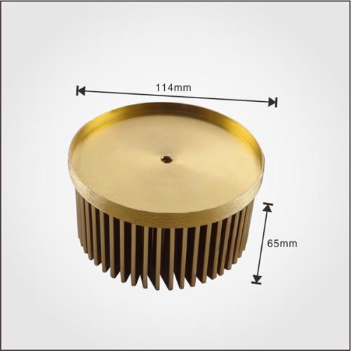 LED Pin Fin Heatsink with Diameter 110mm cold forging heatsink made in China