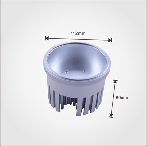 Big power cold forging pin fin led heatsink,silver anodized bead blasting
